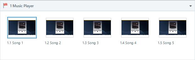 Custom HTML5 timeline for Articulate Storyline 360-Music Player