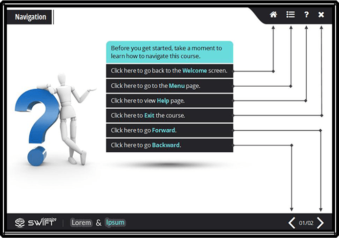 E-learning User Interface to Improve Learning Experience1