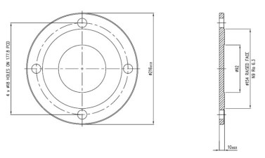 Blank Flange Bottom Discharge - STF7018