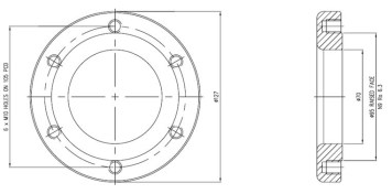 "2 1/2"" Pressure Relief Valve Weld Pad - STF7005"