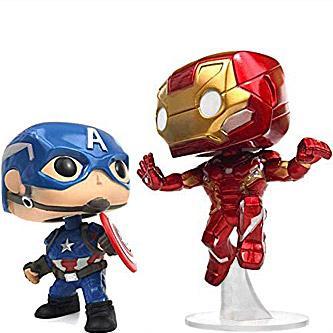 Funko Pop Marvel Captain America Civil War 2 Pack Captain America Iron Man