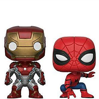 Funko Pop Spider-Man Homecoming 2 pack Iron Man Spider-Man