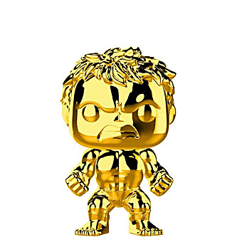 Funko Pop Marvel Studios 379 Hulk Gold Chrome