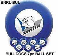 "2"" ARAMITH NRL CLUB LOGO BALL SETS - Bulldogs"