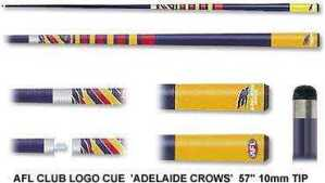 2pc OFFICIAL AFL CLUB LOGO CUE - Adelaide Crows