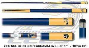 2pc OFFICIAL NRL CLUB LOGO CUE - Parramatta Eels