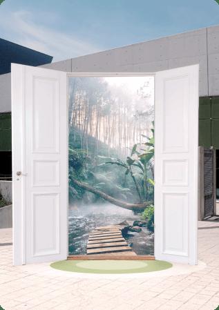 AR doorway experience