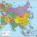 Asia Wall Map Geopolitical Deluxe Edition