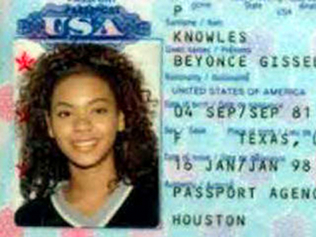 Beyonce Passport Photo
