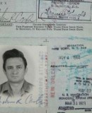 Johnny Cash Passport Photo