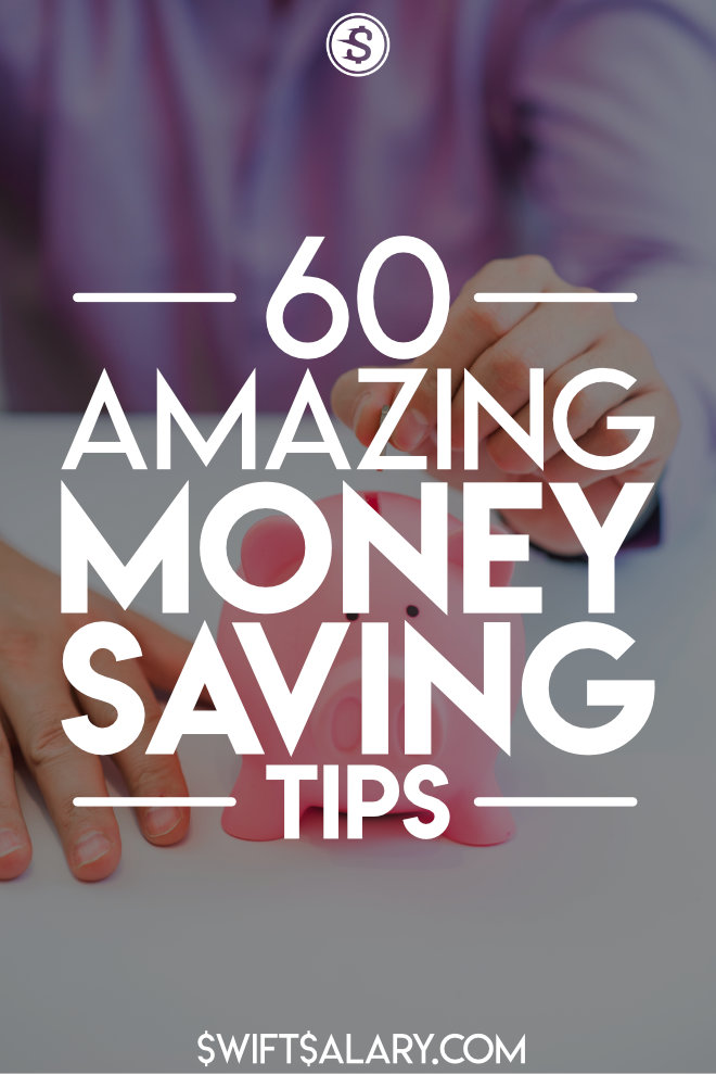 This post is filled with 60 of the best money saving tips that are awesome, weird, and super actionable. You can save over $500 per month with these great money saving ideas.