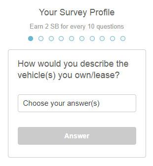 Swagbucks surveys profile