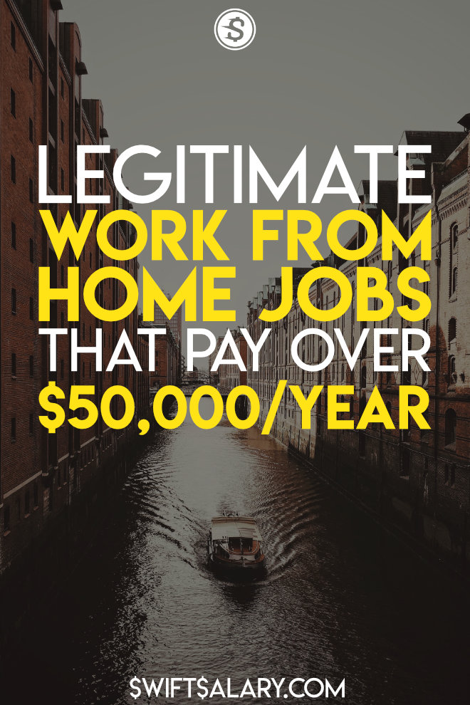 It's a sad fact that there are many work from home jobs that are complete scams. Here are 10+ legitimate work from home jobs that pay up to and over $50,000 per year!