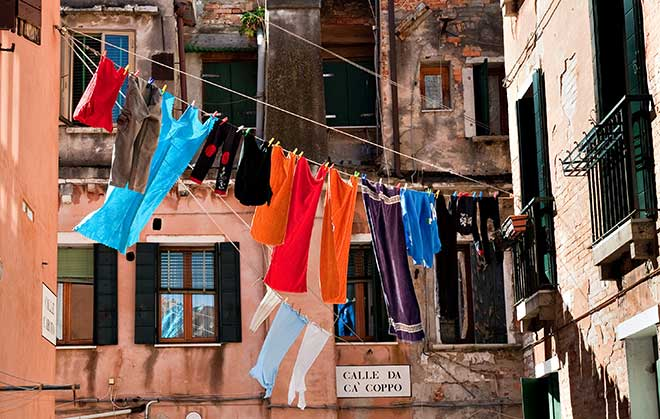 Hang dry laundry