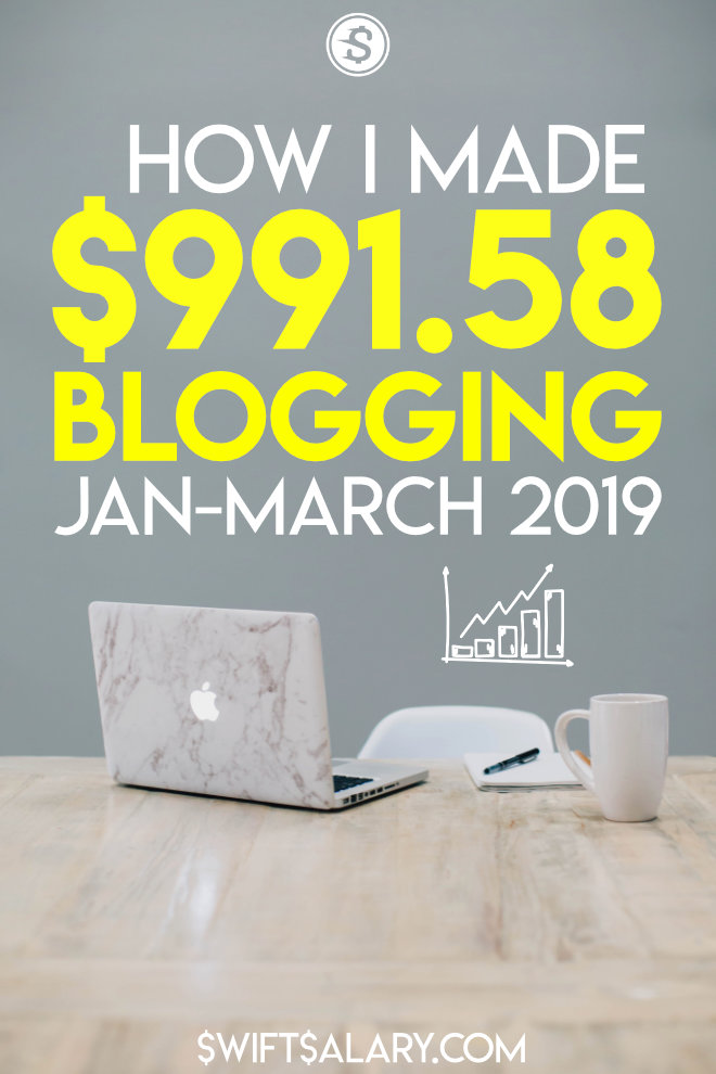 How I made money blogging in the first quarter of 2019