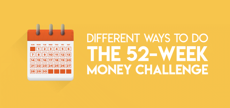 Different ways to do the 52-week money challenge