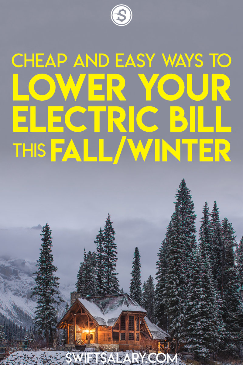How to lower your electric bill in winter