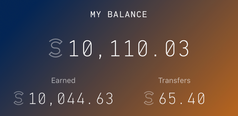 My Sweatcoin balance as of February 29, 2020