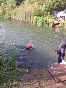 Swim exit at the Bridge