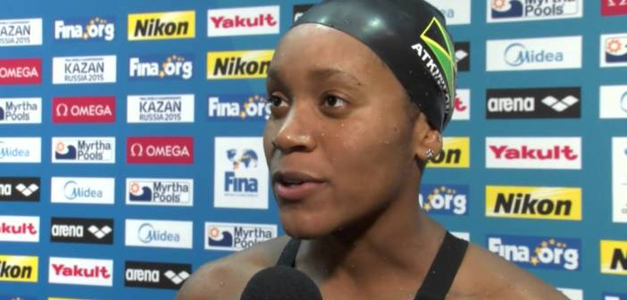 Alia Atkinson (JAM) Gold in the 100m Breaststroke at Doha 2014