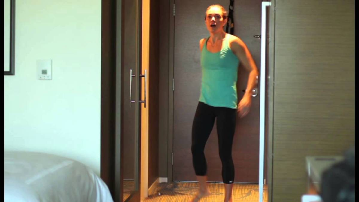 Natalie Coughlin TRX Hotel Workout