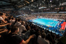 LEN European Water Polo Championships 2016 Croatia CRO (White) Vs Serbia SRB (Blue) Men Venue Kombank Arena, Belgrade, Serbia Day01 10-01-2016 Photo G.Scala Insidefoto/Deepbluemedia