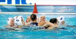 Hungary Celebrating Women HUN - ITA (white cap) Hungary Vs. Italy (blue Cap) LEN European Water Polo Championships 2016 Kombank Arena, Belgrade, Serbia Day11 21-01-2016 semifinal Photo G.Scala/Insidefoto/Deepbluemedia