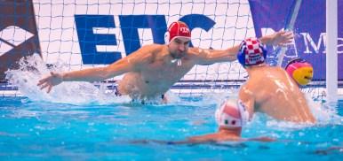 LEN European Water Polo Championships 2016 Italy ITA (White) Vs Croatia CRO (Blue) Men 1 TEMPESTI Stefano (C) GK Red Kombank Arena, Belgrade, Serbia Day12 21-01-2016 Photo P. Mesiano/Insidefoto/Deepbluemedia