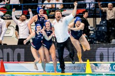 Team Hungary LEN European Water Polo Championships 2016 Women NED - HUN Netherlands (white) vs Hungary (blue) Final Kombank Arena, Belgrade, Serbia Day13 22-01-2016 Photo G. Scala/Insidefoto/Deepbluemedia