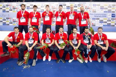 Team Montenegro Silver medal Medal Ceremony LEN European Water Polo Championships 2016 Kombank Arena, Belgrade, Serbia Day11 20-01-2016 Photo G.Scala/Insidefoto/Deepbluemedia
