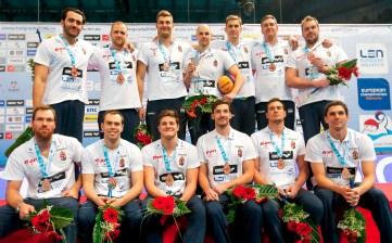 Hungary Bronze Medal Final SRB - MNE Serbia (White Cap) Vs. Montenegro (Blue Cap) LEN European Water Polo Championships 2016 Kombank Arena, Belgrade, Serbia Day11 20-01-2016 Photo G.Scala/Insidefoto/Deepbluemedia
