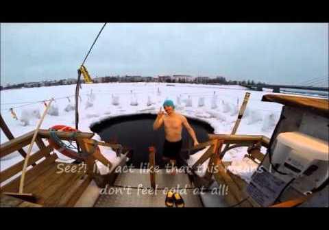 Ice swimming Rovaniemi 2016 March