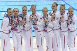 RUSSIA RUS Gold Medal KOLESNICHENKO, YESIPOVICH, SHULHINA, TARAKHOVIC, TALEIKO, VALASACH, NAVASIOLAVA, BICHUN, WARDAK, KHANDOSHKA Team Technical Final London, Queen Elizabeth II Olympic Park Pool LEN 2016 European Aquatics Elite Championships Synchronized Swimming Day 01 09-05-2016 Photo Andrea Staccioli/Deepbluemedia/Insidefoto