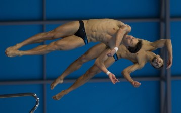 KLEIN Sascha HAUSDING Patrick GER gold medal London, Queen Elizabeth II Olympic Park Pool LEN 2016 European Aquatics Elite Championships Diving Men's synchronized 10m platform final Day 04 12-05-2016 Photo Giorgio Perottino/Deepbluemedia/Insidefoto
