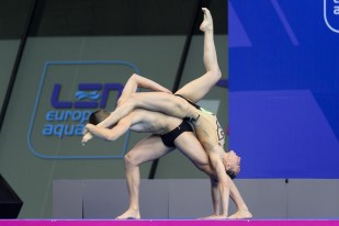 Manila FLAMINI Giorgio MINISINI ITA Silver Medal Mixed Duet Final London, Queen Elizabeth II Olympic Park Pool LEN 2016 European Aquatics Elite Championships Synchronized Swimming Day 05 13-05-2016 Photo Andrea Staccioli/Deepbluemedia/Insidefoto