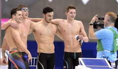 GREAT BRITAIN gold Medal WALKER-HEBBORN Christoph PEATY Adam GUY James SCOTT Duncan 4x100 Medley Men FINAL London, Queen Elizabeth II Olympic Park Pool LEN 2016 European Aquatics Elite Championships Swimming Day 14 22-05-2016 Photo Andrea Staccioli/Deepbluemedia/Insidefoto