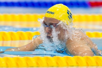 JOHANSSON Jennie SWE gold medal London, Queen Elizabeth II Olympic Park Pool LEN 2016 European Aquatics Elite Championships Swimming Women's 50m breaststroke final Day 14 22-05-2016 Photo Giorgio Perottino/Deepbluemedia/Insidefoto
