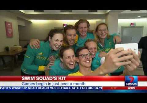 Australian Swim Team Receives Olympic Uniform