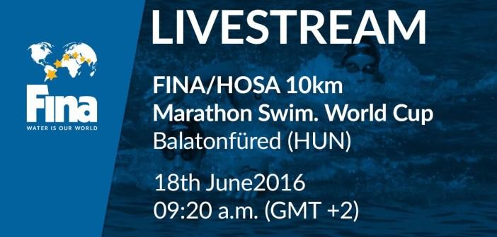 Live Stream from Lake Balaton leg of FINA 10K Open Water World Cup 2016