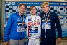Podium 200 Breaststroke Men Final LEN 43rd Arena European Junior Swimming Championships Hodmezovasarhely, Hungary Day02 07-07-2016 Photo Andrea Masini/Deepbluemedia/Insidefoto