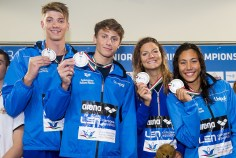 Team Italy ITA 4X100 Medley Mixed relay Final Gold Medal LEN 43rd Arena European Junior Swimming Championships Hodmezovasarhely, Hungary Day04 09-07-2016 Photo Andrea Masini/Deepbluemedia/Insidefoto