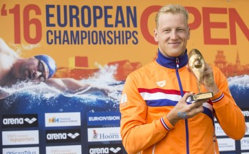 WEERTMAN Ferry NED awarde with the LEN Trophy as Open Water Swimmer of the Year Hoorn, Netherlands LEN 2016 European Open Water Swimming Championships Open Water Swimming Men's 5km Day 02 12-07-2016 Photo Giorgio Perottino/Deepbluemedia/Insidefoto