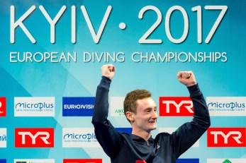 Benjamin AUFFRET FRA 10m. Men Platform LEN European Diving Championships 2017 Sport Center LIKO, Kiev UKR Jun 12 - 18, 2017 Day07 18-06-2017 Photo © Giorgio Scala/Deepbluemedia/Insidefoto