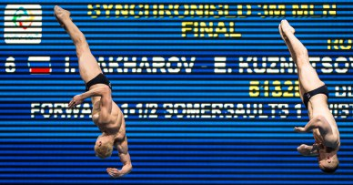 ZAKHAROV Ilia, KUZNETSOV Evgenii RUS 3m Synchronised Men Final LEN European Diving Championships 2017 Sport Center LIKO, Kiev UKR Jun 12 - 18, 2017 Day06 17-06-2017 Photo © Giorgio Scala/Deepbluemedia/Insidefoto