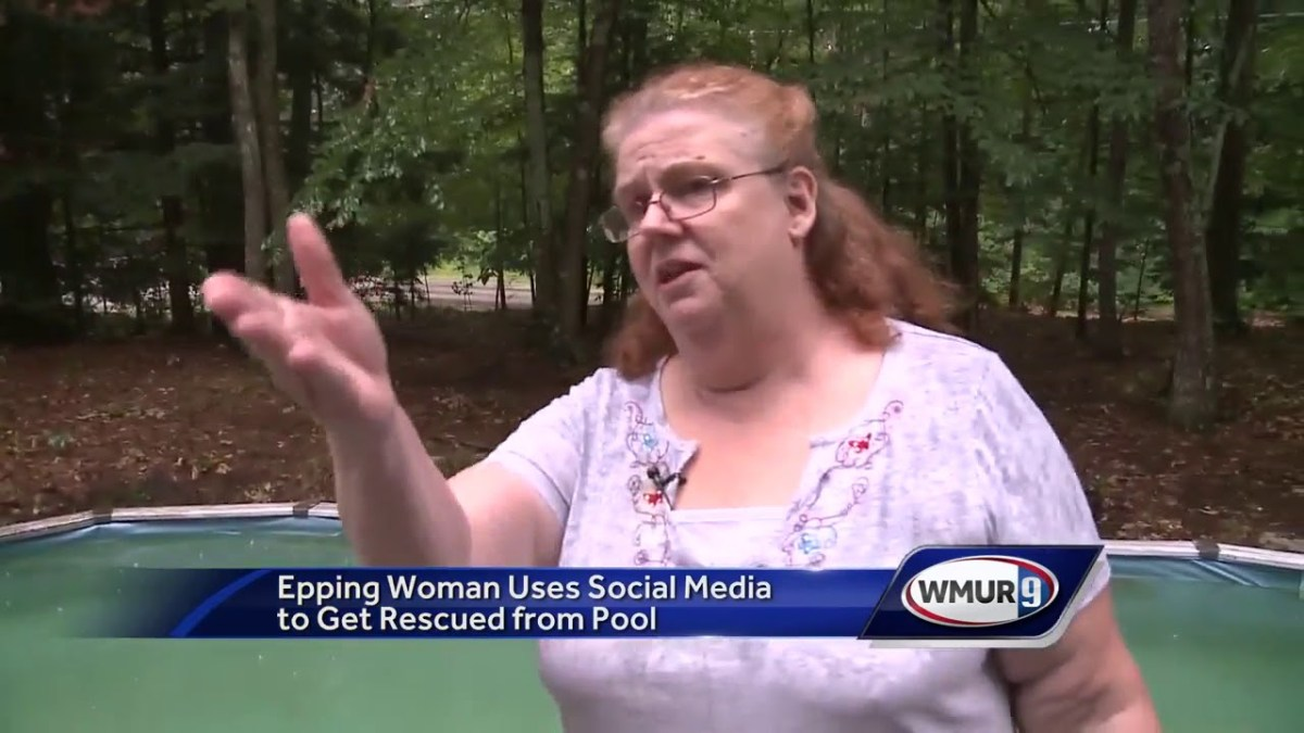Woman stuck in swimming pool turns to Facebook for help