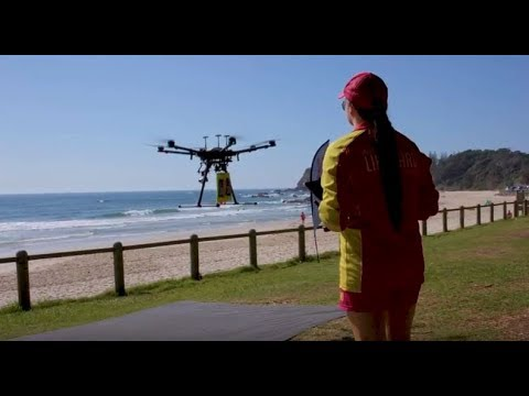 Lifeguard drone completes world-first ocean rescue