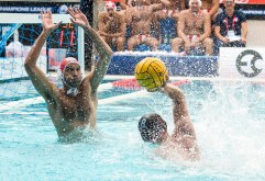 Olympiacos (white cap) vs Spandau (blue cap) PAVIC Josip LEN Champions League Final Eight 2018 Piscina Sciorba Genova Italy Photo © G.Scala/Deepbluemedia/inside
