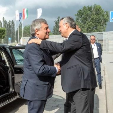 Antonio Tajani President of EU Parliament, Paolo Barelli LEN President LEN Congress 2018 Budapest Hungay Photo © G.Scala/Deepbluemedia/inside