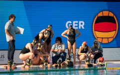 Team Germany SRB-GER Serbia (white caps) vs. Germany (blue caps) Barcelona (ESP) 14/07/18 Piscines Bernat Picornell Women qualification 33rd LEN European Water Polo Championships - Barcelona 2018 Photo Pasquale Mesiano/Deepbluemedia/Insidefoto