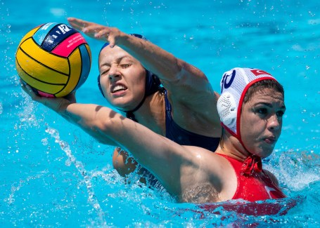 TUR - HUN Turkey (white caps) vs. Hungary (blue caps) Barcelona 15/07/18 Piscines Bernat Picornell Women qualification 33rd LEN European Water Polo Championships - Barcelona 2018 Photo Giorgio Scala/Deepbluemedia/Insidefoto